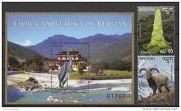 Bhutan (2014) - Set + Block -  /  Aves - Birds - Oiseaux - Vogel - Heron - Sheep - Fauna - Flora - Vogels