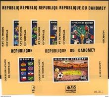 Football / Soccer / Fussball - WM 1974: Dahomey  6 SoBl ** - Coppa Del Mondo
