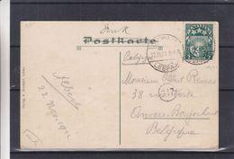 Lettonie - Carte Postale De 1922 - Imprimée - Oblit Leepaja - Exp Vers Borgerhout En Belgique - Latvia