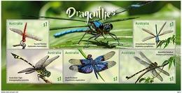 Australia 2017 Minisheet MNH   Dragonflies  Libellules  Libellule    Dragonflie Libellen - Altri