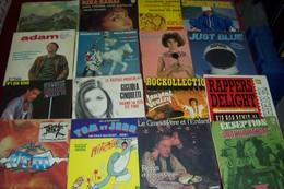 LOT 33 DISQUES  VINYLES OCCASION EN  45 TOURS  PETIT PRIX VENDUE EN 1 LOT - Collections Complètes