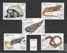 Reptile  Tortue Lézard Orvet - Kampuchéa N°751 à 756 (sauf 752) 1987 O - Reptiles & Batraciens