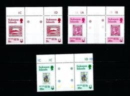 Islas Salomón  Nº Yvert  375/7 (pareja Con Interpanel)  En Nuevo - Islas Salomón (1978-...)