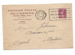 ENVELOPPE PUBLICITAIRE 1932.. Papiers Peints DUCHESNE, Boulevard Des Filles Du Calvaire à PARIS (75) - France