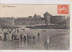 CPA-35-Ille Et Vilaine- SAINT-MALO- Le Château Et La Plage- - Saint Malo