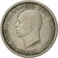 Grèce, Paul I, 2 Drachmai, 1957, TB, Copper-nickel, KM:82 - Grèce