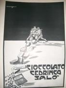 CICCOLATO CEDRINCA SALO,STAMPA  PUBB.-1930.DOC,C - Autres Collections