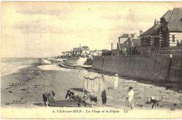 CPA N°2821 - LOT DE 2 CARTES DE VER SUR MER - LA PLAGE ET LA DIGUE + LE PHARE - France