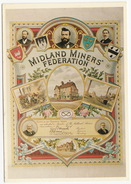 The MIDLAND MINERS' FEDERATION - Trades Union Membership Certificate Or Emblem - Vakbonden