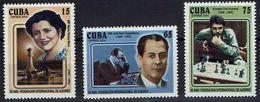 Schach Chess Ajedrez échecs - Kuba Cuba 2004 - María Teresa Mora, J. R. Capablanca, Che Guevara - MiNr 4616-4618 - Schaken