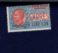 Espressi N°5 1921 Nuovo GOMMA INTEGRA Ma Brunita- MNH**   COD FRA.809 - 1900-44 Vittorio Emanuele III