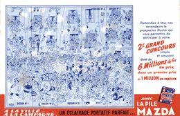 BUVARD LA PILE MAZDA 2 EME GRAND CONCOURS - Affiches