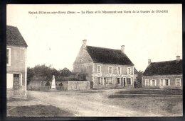 SAINT HILAIRE SUR ERRE 61 - La Place Et Le Monument Aux Morts  - Café De La Paix - France