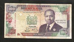 KENYA - CENTRAL BANK Of KENYA - 100 SHILLINGS (1990) - D. TOROITICH ARAP MOI - Kenia