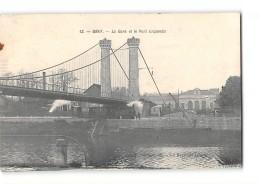 CPA 70 Gray La Gare Le Pont Suspendu Et Le Train Tramway - Gray