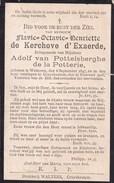 WETTEREN KRUISHOUTEM Flavie De KERCHOVE D'EXAERDE épouse Van POTTELSBERGHE De La POTTERIE  1847-1906 Usé DP - Todesanzeige