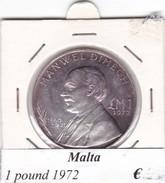MALTA   1 POUND   ANNO 1972  COME DA FOTO - Malta