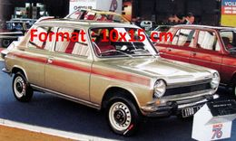 Reproduction D'une Photographie D'une Simca 1100 Au Salon De L'automobile De Paris En 1975 - Reproductions