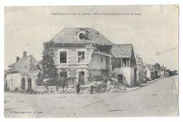 Cpa: 60 CARLEPONT (ar. Compiègne) Route D'Ourscamps Et Route De Bailly (animée) 1920 - Andere Gemeenten