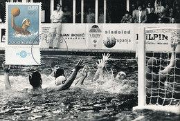 D30994 CARTE MAXIMUM CARD 1972 YUGOSLAVIA - WATERPOLO OLYMPICS CP PHOTOCARD - Water Polo