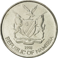 Namibia, 10 Cents, 1998, Vantaa, SUP, Nickel Plated Steel, KM:2 - Namibie