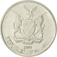 Namibia, 5 Cents, 1993, Vantaa, SUP, Nickel Plated Steel, KM:1 - Namibie