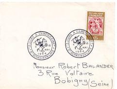 """1964 - SAINT GERMAIN EN LAYE - EXPOSITION """"3 JOURS A L'AMERICAINE"""" - TaD Commémoratif """"cow-boy à Cheval"""" - Tp N° 1415 - Marcophilie (Lettres)"""