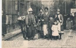 Carte Souvenir De La Mi Caréme Un Globe Trotter  Fin De Siècle Dromadaire ( J B Doussineau Ex Boulanger )( Recto Verso ) - Spectacle