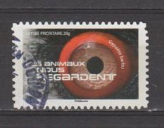 """FRANCE / 2015 / Y&T N° AA 1163 : """"Les Animaux Nous Regardent"""" (Gypaète Barbu) - Choisi - Cachet Rond - Adhesive Stamps"""