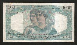 FRANCE - BANQUE De FRANCE - 1000 Francs MINERVE Et HERCULE - (F. 12 - 4 - 1945) - 1871-1952 Antichi Franchi Circolanti Nel XX Secolo