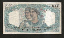 FRANCE - BANQUE De FRANCE - 1000 Francs MINERVE Et HERCULE - (X. 23 - 8 - 1945) - 1871-1952 Antichi Franchi Circolanti Nel XX Secolo