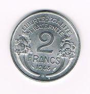 ) FRANKRIJK 2 FRANCS 1948 B - France