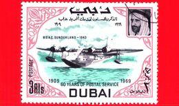 Nuovo - DUBAI - 1969 - 60 Anni Del Servizio Postale -  Navi E Aerei - B.O.A.C. Sunderland, 1943 - 3 - Dubai