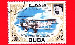 Nuovo - DUBAI - 1969 - 60 Anni Del Servizio Postale -  Navi E Aerei - De Havilland 66, 1930 - 35 - Dubai