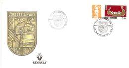 France - 1996 - 40 Ans Usine Renault De Blainville - Enveloppe Philatélique - 1990-1999