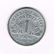 00 FRANKRIJK 1 FRANC 1943  VICHY - H. 1 Franco