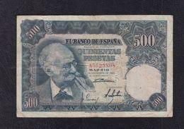 500 PTAS 15 DE NOVIEMBRE DE 1951 SERIE A. CONSERVACION MBC- - [ 3] 1936-1975 : Regency Of Franco