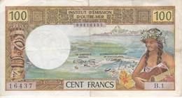BILLETE DE OUTRE MER DE PAPEETE DE 100 FRANCS  (BANKNOTE) - Papeete (French Polynesia 1914-1985)