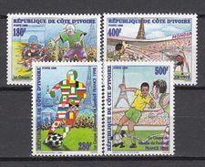 Football / Soccer / Fussball - WM 1998:  Cote D'Ivoire  4 W **, Perf. - Coupe Du Monde