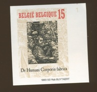 Belgique 1993  NON DENTELES > Vésalius <  Tirage 1000 Ex. N° Au Verso   De Humani Corporis Fabrica - Medicina