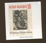 Belgique 1993  NON DENTELES > Vésalius <  Tirage 1000 Ex. N° Au Verso   De Humani Corporis Fabrica - Medicine
