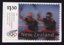 New Zealand 2004 Olympics Athens Gold Lenticular $1.50 Used - - - - New Zealand