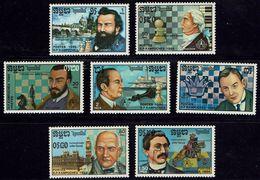 Schach Chess Ajedrez échecs - Kambodscha Kampuchea Cambodga 1986 - MiNr 791-797 - Schach