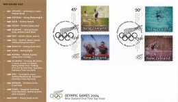 New Zealand 2004 Olympic Games 'Action Replay' FDC - FDC