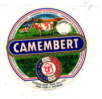 P 12 -  ETIQUETTE DE FROMAGE   - CAMEMBERT  FRANKRIJK  FABRIQUE EN NORMANDIE - Fromage