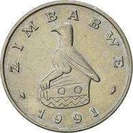 Zimbabwe, 10 Cents, 1991, TTB, Copper-nickel, KM:3 - Zimbabwe