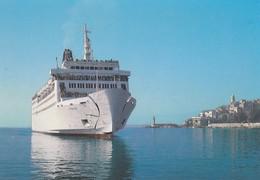 20---2B---BASTIA--entrée Du CYRNOS Dans Le Port De BASTIA--( Ferries )--voir 2 Scans - Bastia
