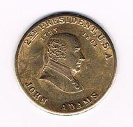 )  PENNING  JOHN  ADAMS  2ND  PRESIDENT  U.S.A. - Elongated Coins