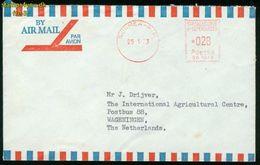 FR Neukaledonien, Noumea - 1973 Freistempel Luftpost Brief Nach Niederlande, Wageningen (South Pacific Commission) - Luftpost