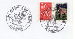 2005 - MOYAUX - 10eme FOIRE AUX ANES - Tp Lamouche N°3734 Vignette Personnalisée - Gepersonaliseerde Postzegels